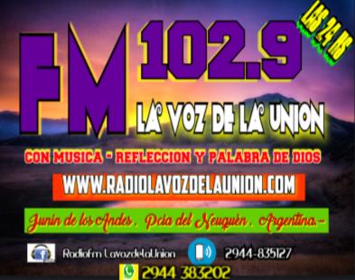 102.9  FM LA    VOZ     DE    LA     UNIÓN